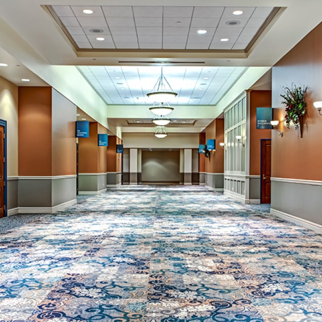 Image of the prefunction space for the Junior Ballroom and Meeting Rooms.