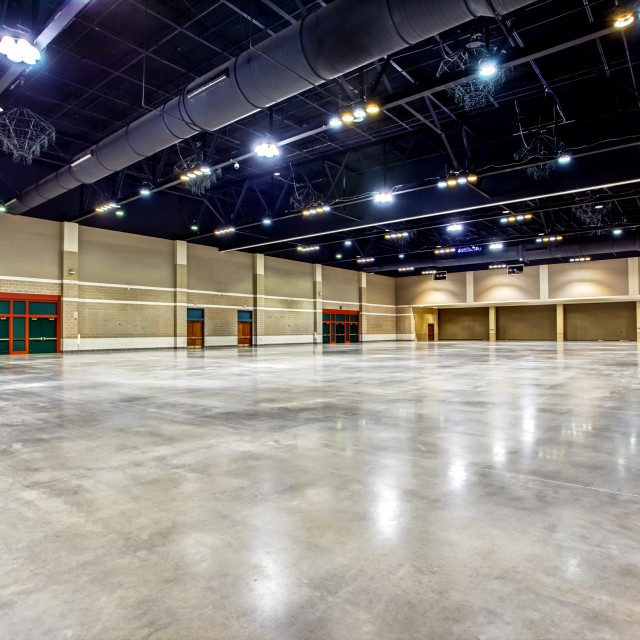 Image of empty North and South Exhibit Hall.